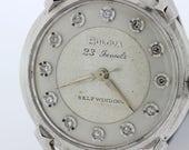 23 jewel, self-winding, diamond dial 14K Gold Bulova Wrist Watch