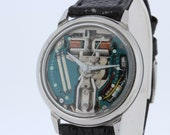 Stainless Steel Bulova Spaceview Accutron Wrist Watch