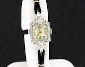 Elgin Platinum and DIamond Wrist Watch
