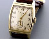 1945 Elgin 10K Rolled Gold plate Bezel and Basemetal Back Wrist Watch