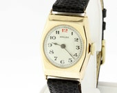 9K Yellow Gold Rolex Men's Watch Hexagon Shaped Case