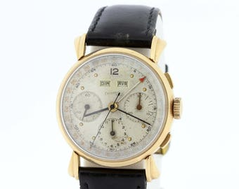 18K Yellow Gold E. Berhard and Co Wrist Watch