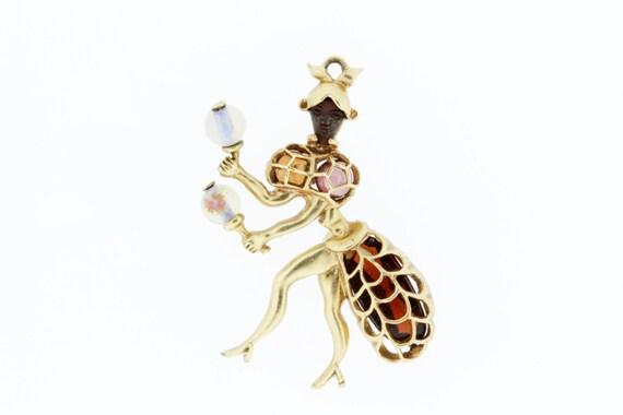 Maraca Dancer Charm with Gemstones - image 5