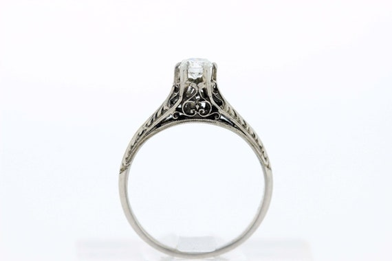 18K Gold Diamond Solitaire Ring  - image 1