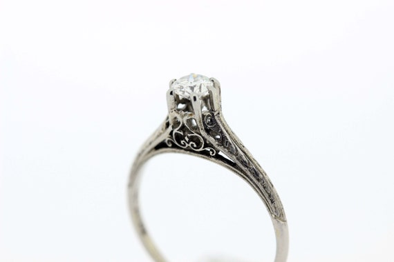 18K Gold Diamond Solitaire Ring  - image 5
