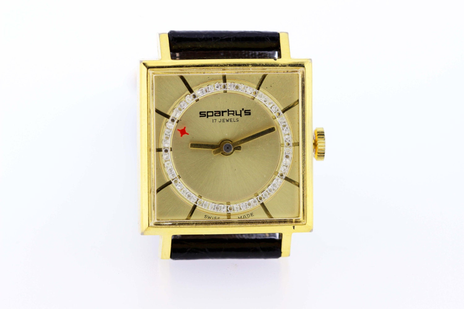 Sparky\'s 17 Jewel Wrist Watch 1970s
