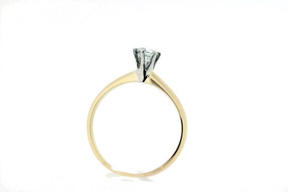 14-karat Gold Solitaire Diamond Ring  - image 3