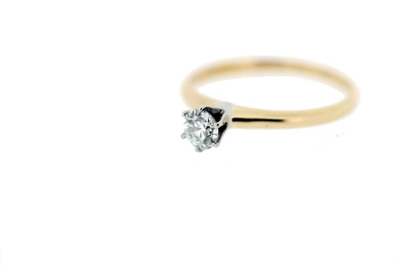 14-karat Gold Solitaire Diamond Ring  - image 5