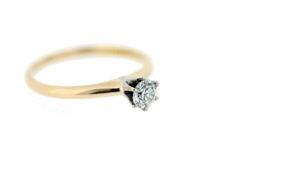14-karat Gold Solitaire Diamond Ring  - image 1