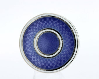 Silver and Enamel Engraved Container