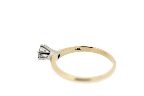 14-karat Gold Solitaire Diamond Ring  - image 4