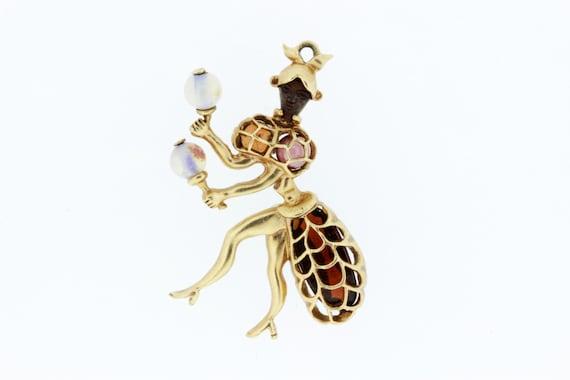 Maraca Dancer Charm with Gemstones - image 2