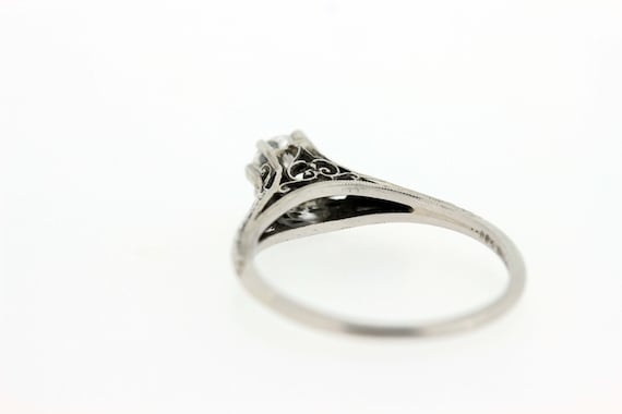 18K Gold Diamond Solitaire Ring  - image 4