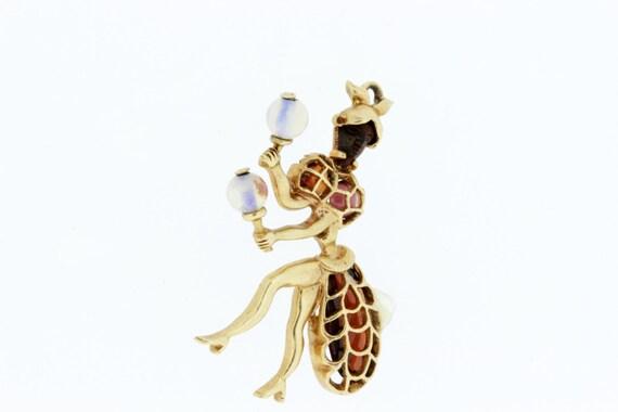 Maraca Dancer Charm with Gemstones - image 4