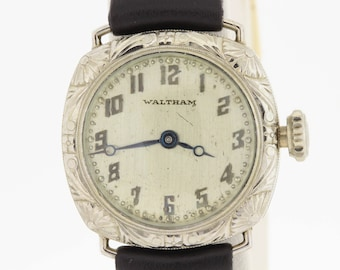1920s Waltham wrist watch 14K