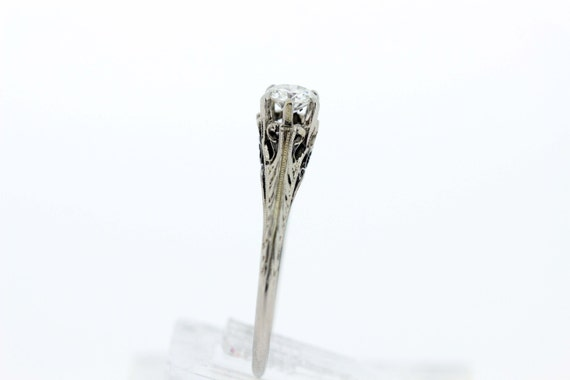 18K Gold Diamond Solitaire Ring  - image 2