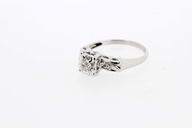 7d17d78dc963 Cuarta parte del quilate diamante solitario anillo 14K oro