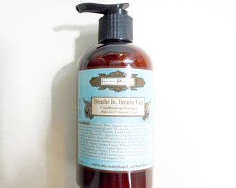Breathe In, Breathe Out  Hair Conditioner for Men - Exotic Salty Sea Air - Reconstruction Conditioner -  Argan Oil - 9.3 oz