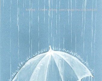 20% OFF - Rain Rain - Art Print 8 x10