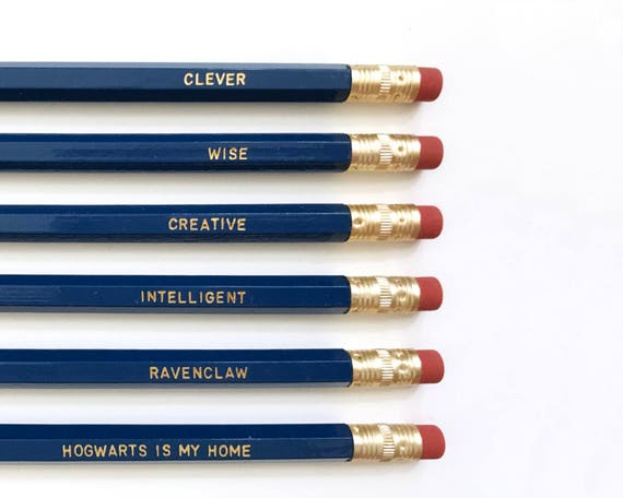 Harry Potter Pencil Set Ravenclaw House Qualities Engraved   Etsy