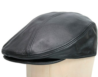 11ed27a0adb Leather Ascot Ivy Driver Cap Made in USA Various Colors