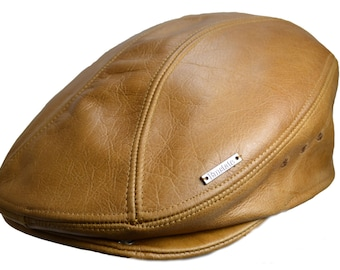 Classic Vintage Leather Ivy Driver Gatsby Cap Hat Made in USA Various Colors 61a5c4ac6f9a