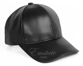 Genuine Cowhide Leather Baseball Cap Adjustable da17c3ae4b3