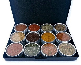 Personalized Dad Gift, Father's Day Gift, for Husband, Men's Gift Idea, BBQ rub sampler, seasoning rubs, spicy rubs, guy gift, foodie gift