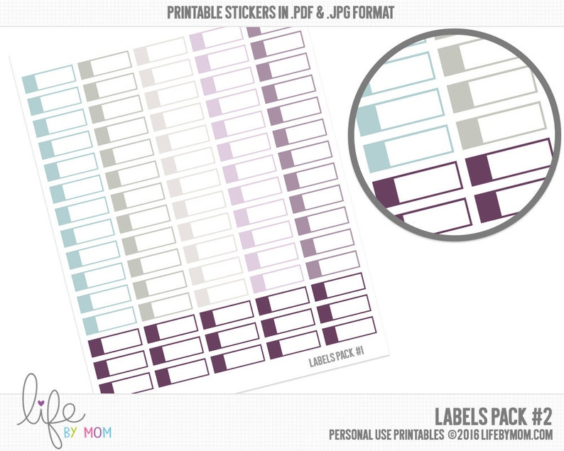 graphic regarding Printable Stickers Labels named Printable Planner Stickers LABELS Day by day Everyday living Planner, Erin Condren, Inkwell Push, filofax, kikki.k, franklin covey, plum paper, colour crush