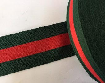 92e4f428e0f 2 yards Designer ribbon 1.2 gucci inspired ribbon grosgrain