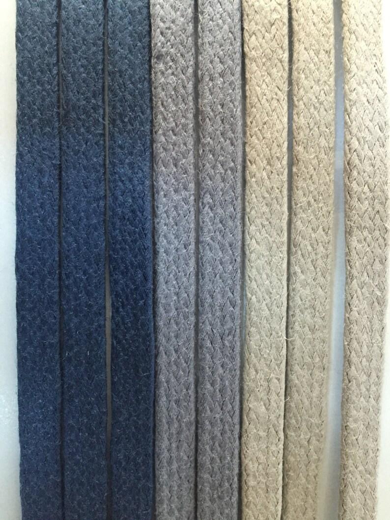 Cotton Waxed Shoelaces Flat Waxed Shoelaces Pastel Color Waxed Shoelaces Faux Leather Shoelaces