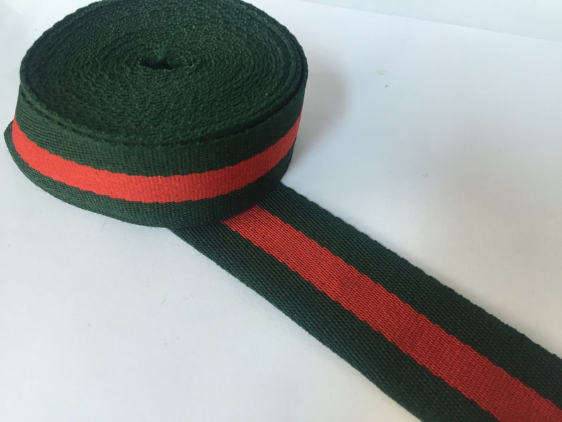 014caca81 2 yards Designer ribbon 1.2 gucci inspired ribbon grosgrain