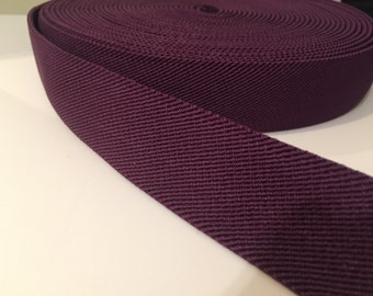 Purple elastic webbing, purple elastic waistband