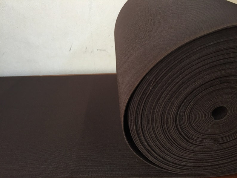 8 inches / 10 inches (20 cm - 25 cm) Ultrawide Brown Elastic Webbing