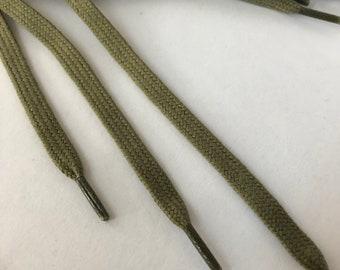 Khaki Cotton Shoelace, Colored Shoelace, Shoelace for trainers, cotton shoelaces