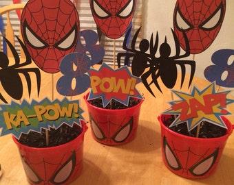 Spiderman centerpiece picks