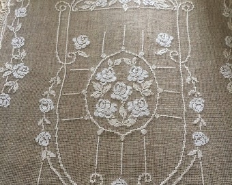 Bedspreads & Coverlets Antique Lace Bedspread Filet Lace Antiques