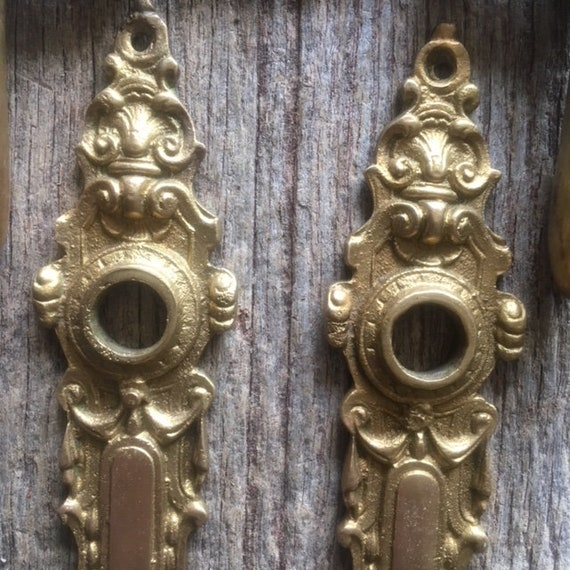 Elegant Rare Brass Antique Style Door Finger//push plates singles