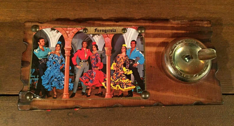 VINTAGE Old Spanish Ashtray with Unused Matches by FUENGIROLA ~ Made in Spain ~ Souvenir ~ unused ~ Mint Condition ~ unique ~ guest display