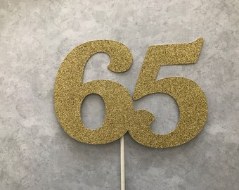 gold glitter hello 21//30//40//50//60 birthday cake topper party decor supplies KK