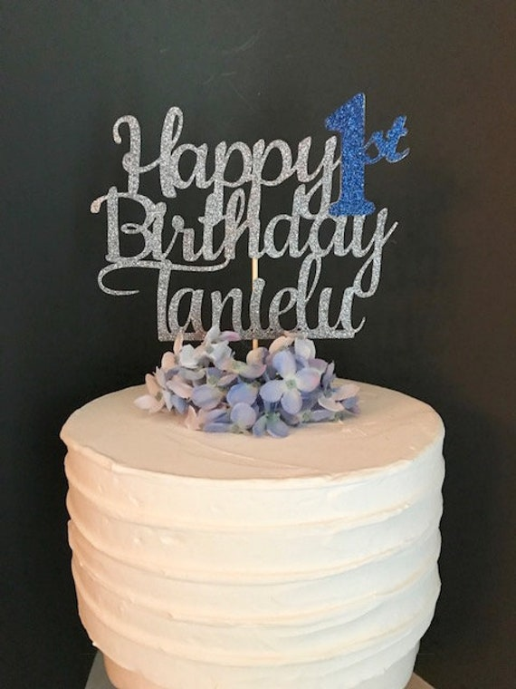 Happy Birthday Cake Topper Personalized Custom