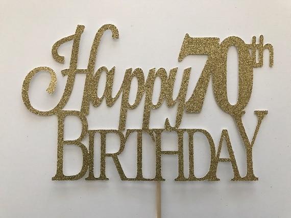 70th Birthday Cake Topper 70