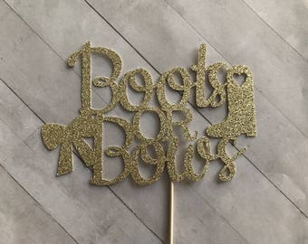 Boots or Bows Cake Topper, Gender Reveal Cake Topper, Gender Reveal Party, Baby Shower Cake Topper, Boy or Girl Cake Topper, Gender Reveal