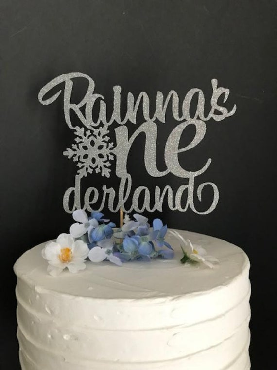 Surprising Any Name Any Age Birthday Cake Topper Winter Onederland Cake Etsy Funny Birthday Cards Online Fluifree Goldxyz