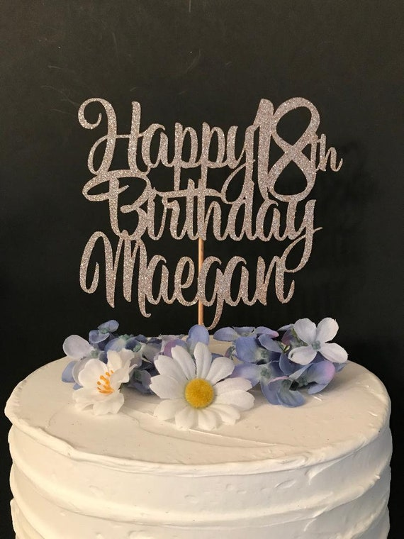 Terrific Any Number Happy Birthday Cake Topper Any Name Personalized Etsy Personalised Birthday Cards Petedlily Jamesorg