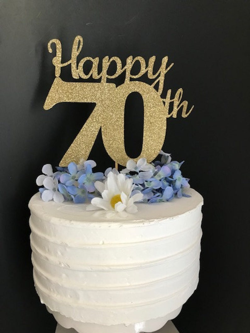 70th Birthday Cake Topper 70