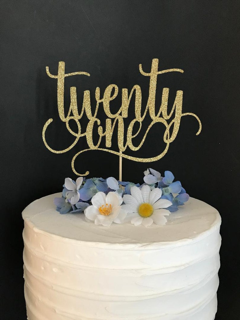 Twenty One Cake Topper 21 21st Birthday