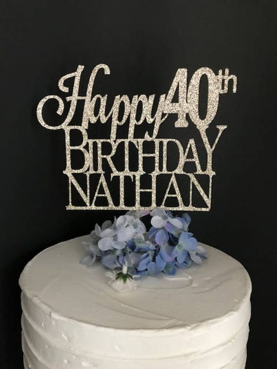Any Name Number Birthday Cake Topper Custom