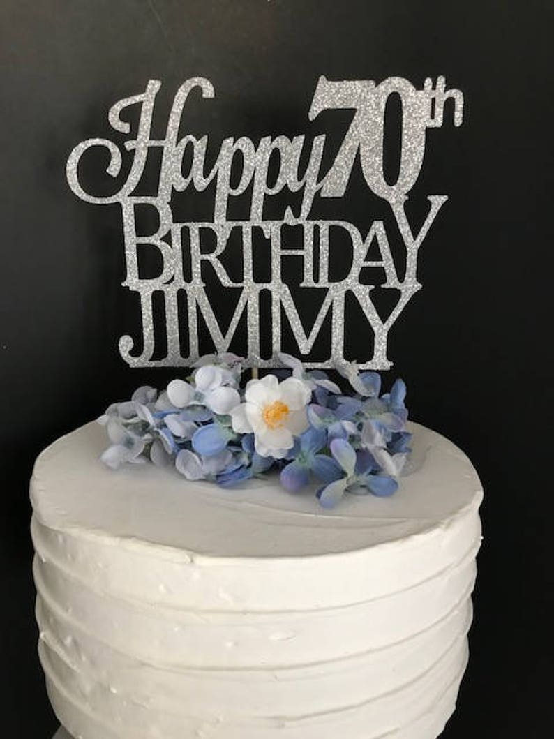 70th Birthday Cake Topper Custom