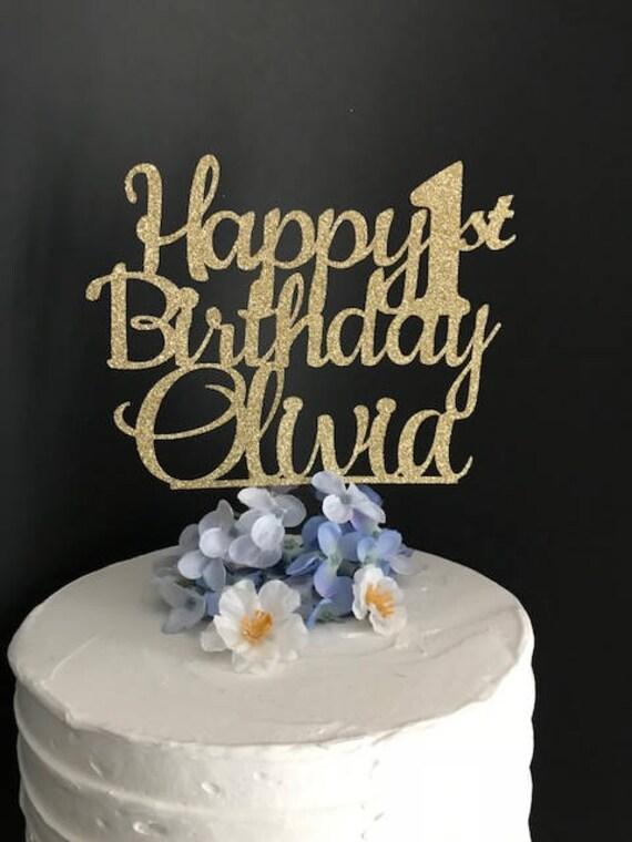Happy Birthday Cake Topper Custom Birthday Cake Topper Etsy